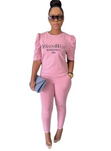 Sommer Print Casual zweiteilige passende Hosen Set