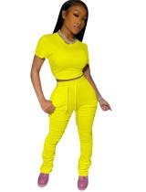 Sommer einfarbiges zweiteiliges passendes abgestecktes Hosen-Set