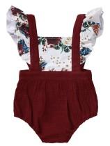 Conjunto de pantalones cortos de dos piezas con tirantes de verano para niña