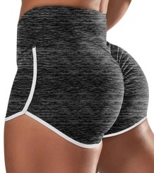Sexy Scrunch Yoga Shorts mit hoher Taille