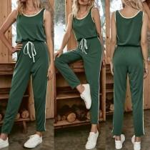 Pijama sin mangas verde verano mono