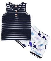 Conjunto de pantalones cortos con estampado de dos piezas de verano para niños