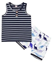 Conjunto de Shorts para Crianças com Duas Peças de Verão para Menino