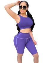 Conjunto de pantalón corto y top deportivo de verano sexy