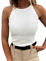 Summer Knit Neckholder Fit Tanktop