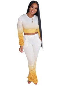 Sexy tweedelige Afrikaanse gestapelde broek set