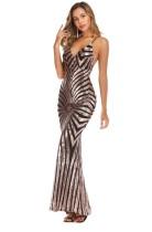 Elegante Pailletten Strap Mermaid Abendkleid