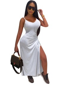 Sexy African Slit Strap Evening Dress