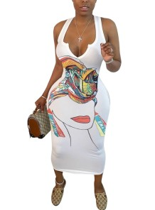 Casual African Print Long Tank Dress