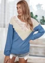 Herfstkleed patchwork golfshirt
