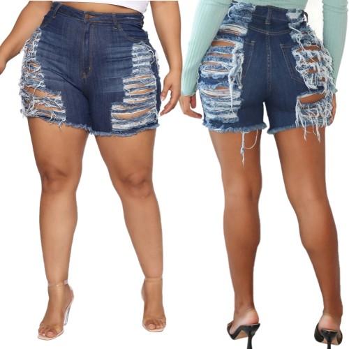 Sexy Ripped High Waist Denim Shorts