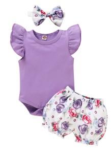 Conjunto de Bermuda de Verão para Bebé com Três Peças