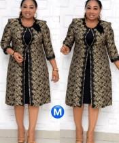 Afrikaanse moeder van de bruid jurk met bijpassende jas