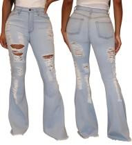 Sexy zerrissene High Waist Flare Jeans