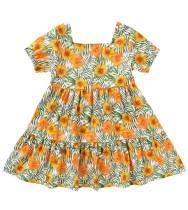 Vestido acampanado floral para niña de verano para niños