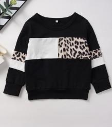 Kids Girl Autumn Leopard Shirt