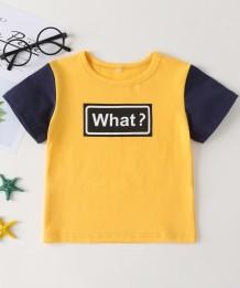 Camisa de impressão com contraste de verão para menino