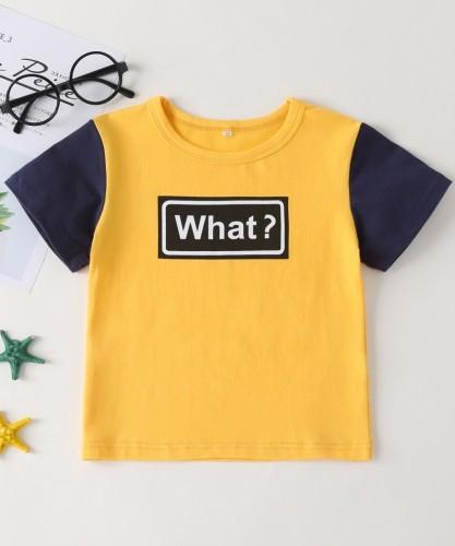 Kids Boy Sommer Kontrastdruck Shirt