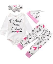 Bébé fille 4pcs ensemble sous-vêtements