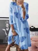 Summer Print A-Line Lounge Dress