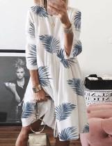 Vestido de verano con estampado de una línea de salón