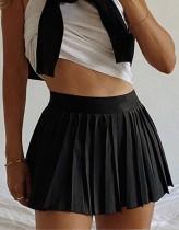 Falda plisada de cintura alta llanura de verano