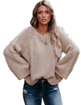 Suéter con cuello redondo y cuello redondo