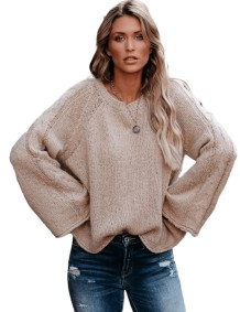 O-Neck Loose Fit Pullover Sweater