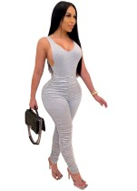 Sexy effen bodysuit en Scrunch Strack Pants