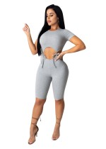 Summer Sexy Tie Up Bodycon Rompers