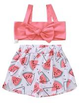 Conjunto de sujetador de verano para niña y pantalón corto estampado
