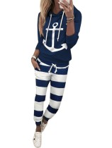 Autumn Striped Hoody Tracksuit