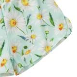 Mamelucos con correa floral de verano para niñas