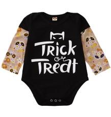 Baby Girl Long Sleeve Print Strampler