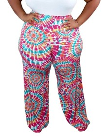 Plus Size Summer Tie Dye Pants