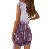 Mini vestido sin mangas con efecto tie dye de verano