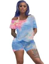 Summer Tie Dye Zweiteiliges Shorts-Set