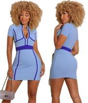 Mini vestido de verano con cremallera sexy