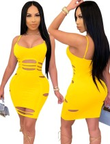 Sexy Cut Out Strap Bodycon Dress