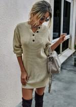 Mini vestido de punto estilo callejero de otoño