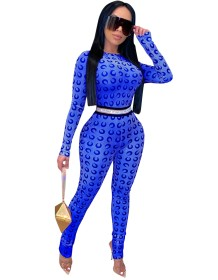 African Sexy Print Long Sleeve Bodycon Jumpsuit