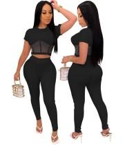 African Sexy Plain Crop Top und passende Hosen Set