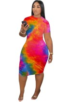 Summer Tie Dye Bodycon Kleid