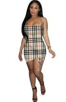 Cintas de impressão sexy Mini vestido