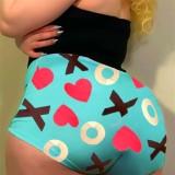 Sports Fitness Shorts con estampado sexy