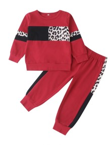 Kids Girl Autumn Leopard Trainingspak