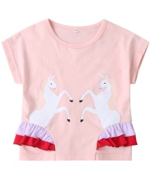Kids Girl Sommer Print Pink Shirt