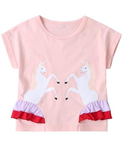 Kids Girl Sommer Print Pink Shirt