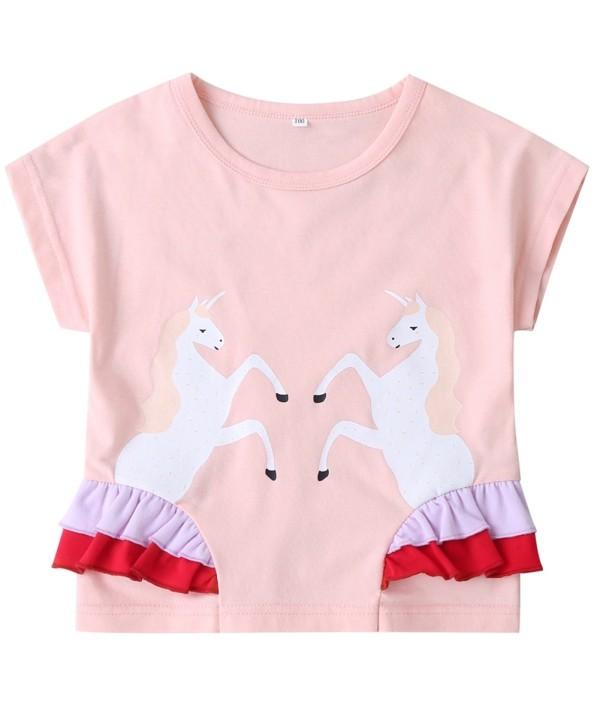 Camisa rosa estampada verano niña niños