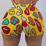 Sports Fitness Shorts estampados coloridos y sexy